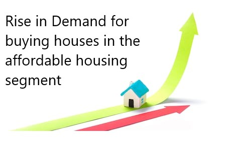 Rise in Demand for buying houses in the affordable housing segment